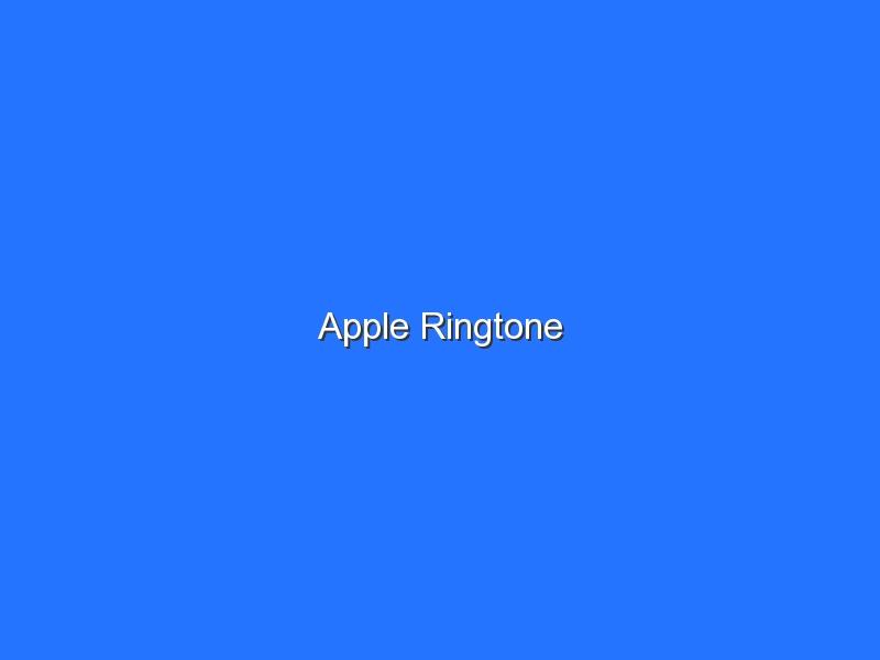 Apple Ringtone