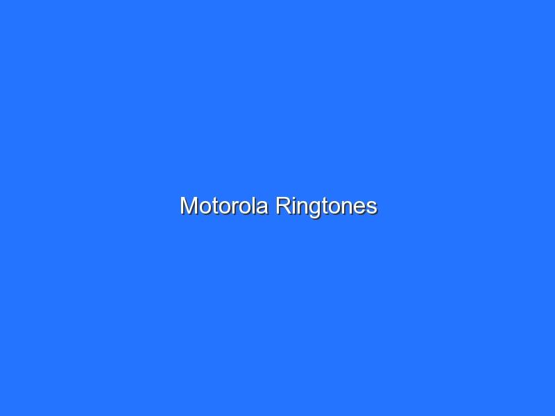 Motorola Ringtones